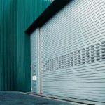 an application shot of milex roller shutters
