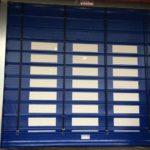 blue high speed doors installed by milex