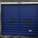 dark blue industrial fast doors by ocm