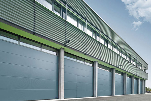 two sotry tall distribution center with six fast moving roller shutters installed
