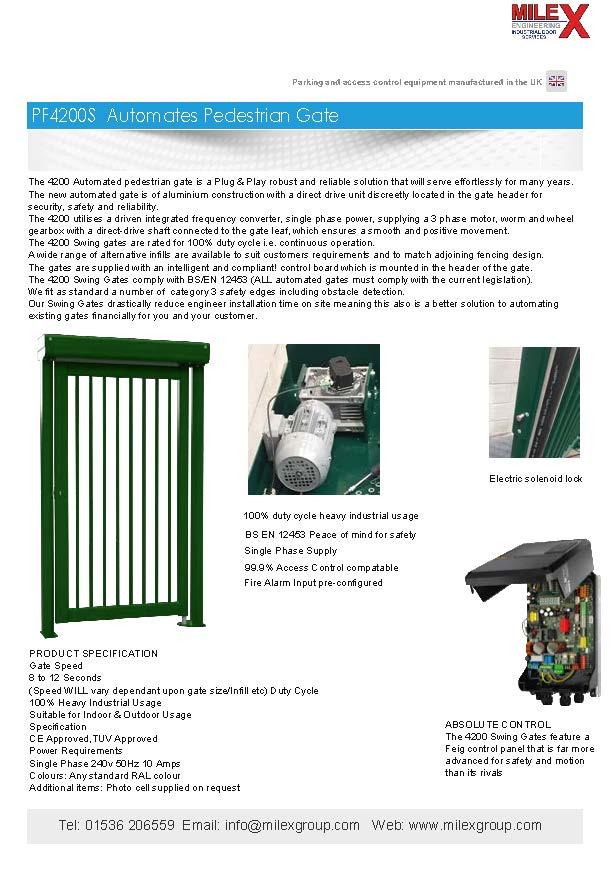 4200S Automated Pedestrian Gate