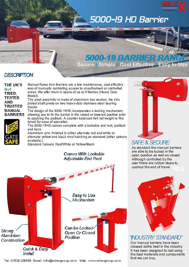 5000HD 19 Manual Barrier MK3