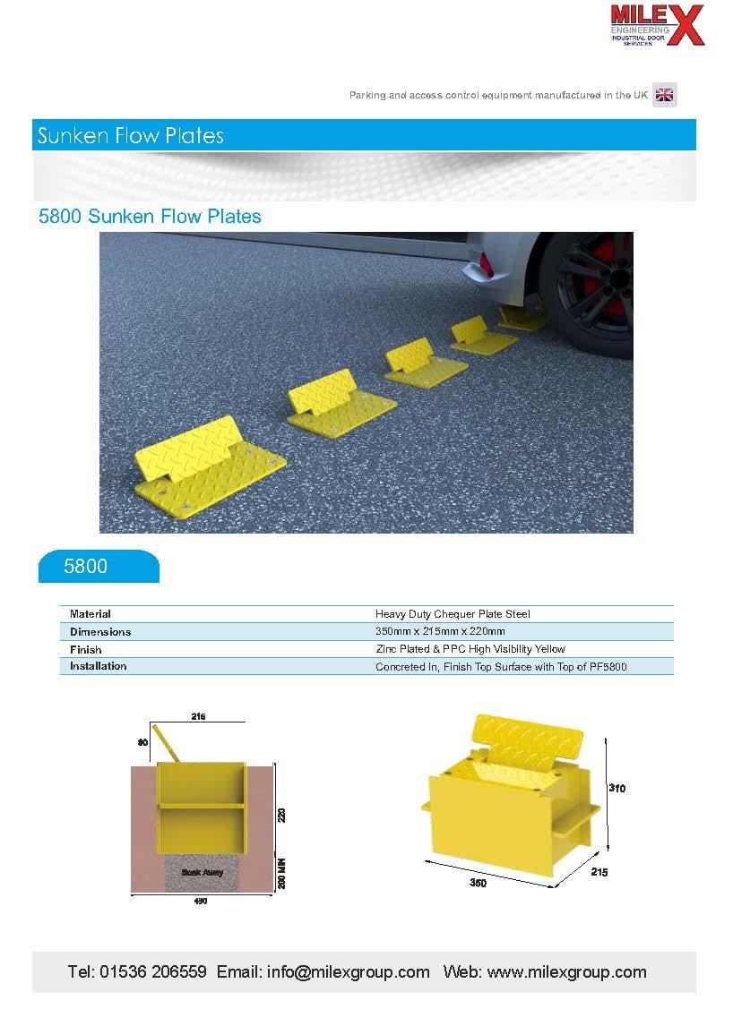 5800 Sunken Flow Plates