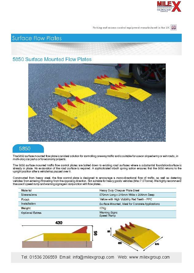 5850 Surface Flow Plates
