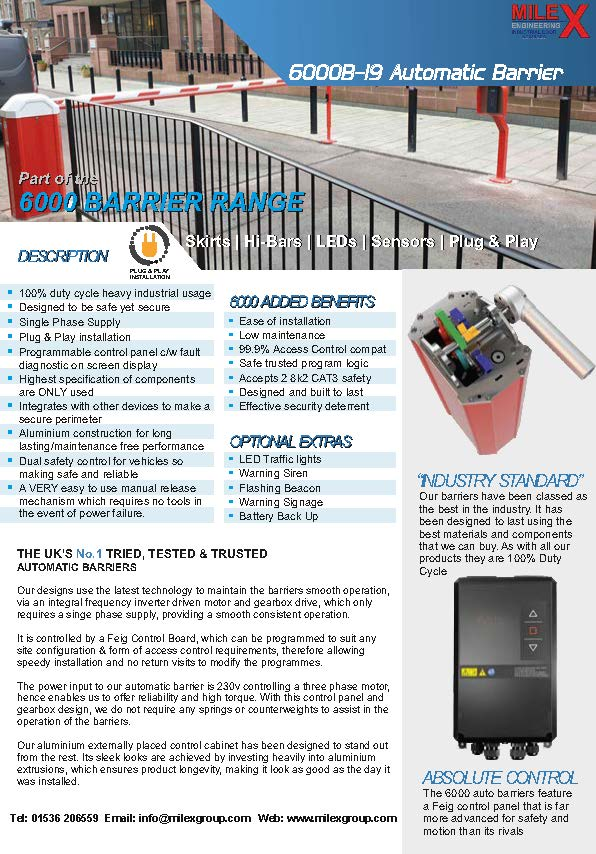 6000B19 Barrier Spec Sheet MK1