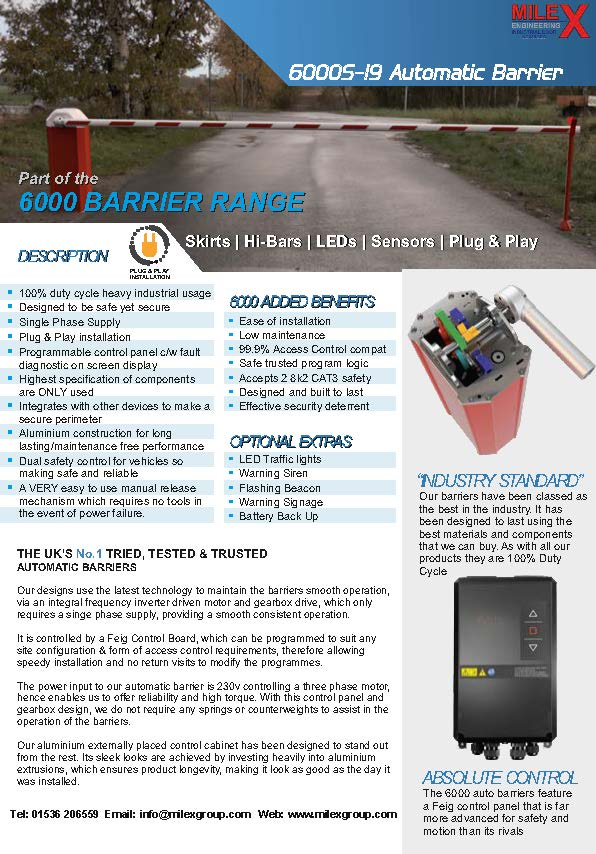6000S19 Barrier Spec Sheet MK1