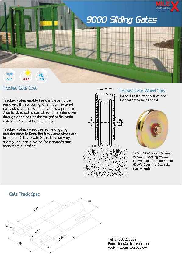 9000A Automatic Sliding Gate MK2 (Tracked)