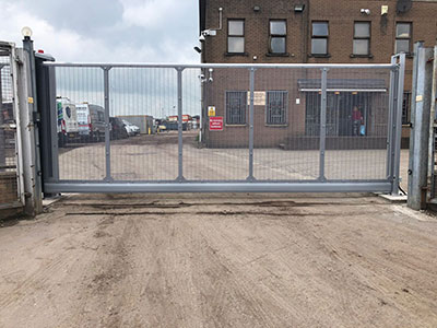Large Grey Sliding Gates 2