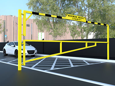 Maximum Height Barrier Yello