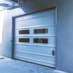 White High Speed Fold Up Giesse Door With Windows