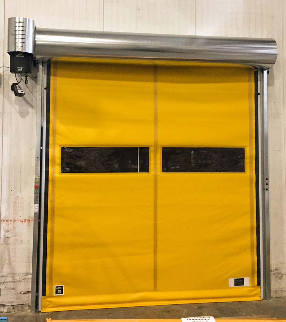 Yellow Giesse Fold Up Hig Speed Door