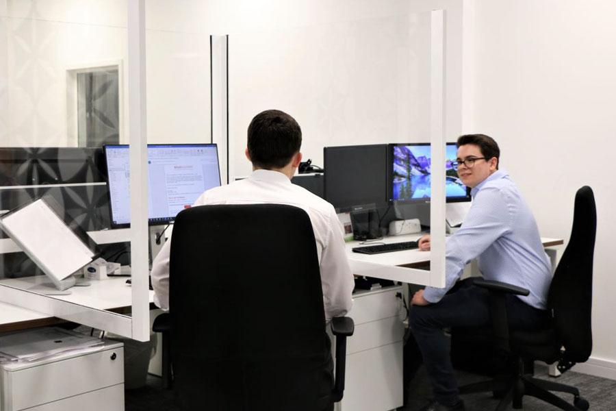 Coronavirus Protection Screens Between Desks
